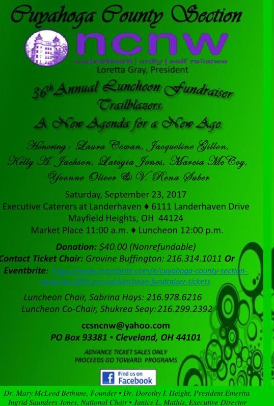 CCSNCNW, 36th Annual Luncheon Flyer