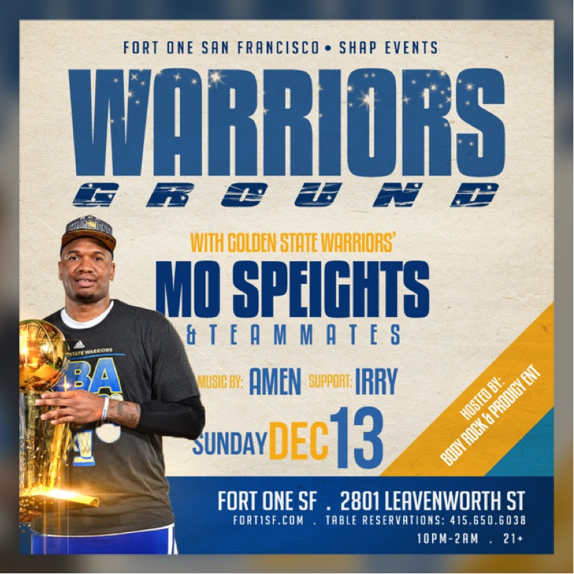 Warriors Come Out And Play Song: GOLDEN STATE WARRIORS @ FORT 1 SF Tickets, Sun, Dec 13