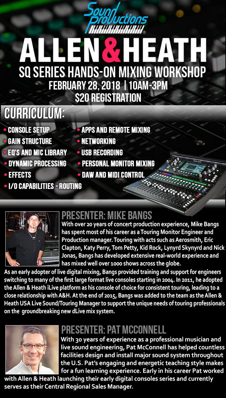 Allen & Heath SQ Series Hands-On Mixing Workshop