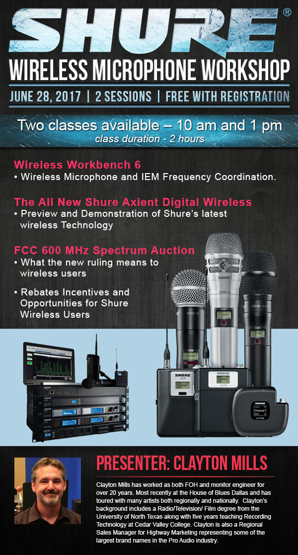 Texas – Sound Productions & Shure Wireless Microphone