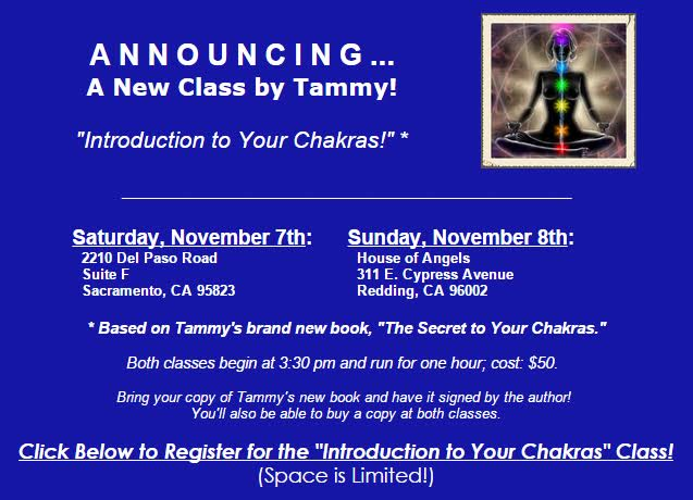Chakra class dates and locations
