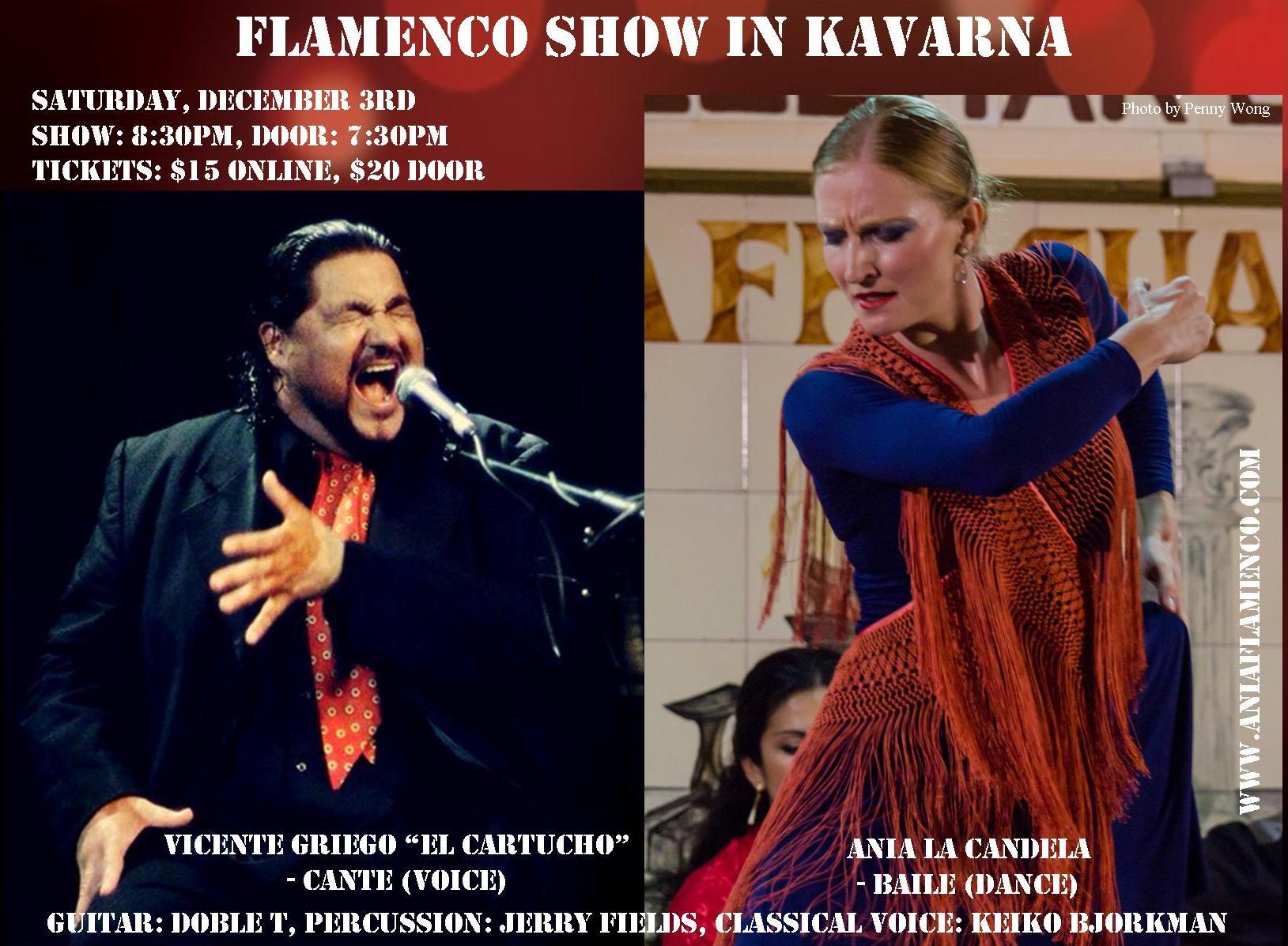 Flamenco in Kavarna on December 3rd