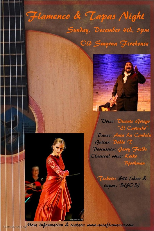 Flamenco & Tapas show on Dec 4th