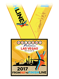 From Fat to Finish Line 2017 Las Vegas Medal