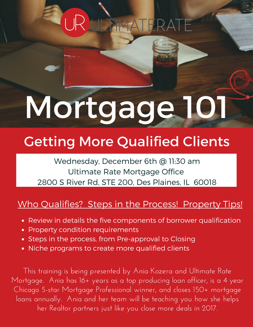 Mortgage 101 for realtors a lunch and learn with ania for Learn mortgage