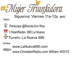 Banner programa radial Mujer Triunfadora