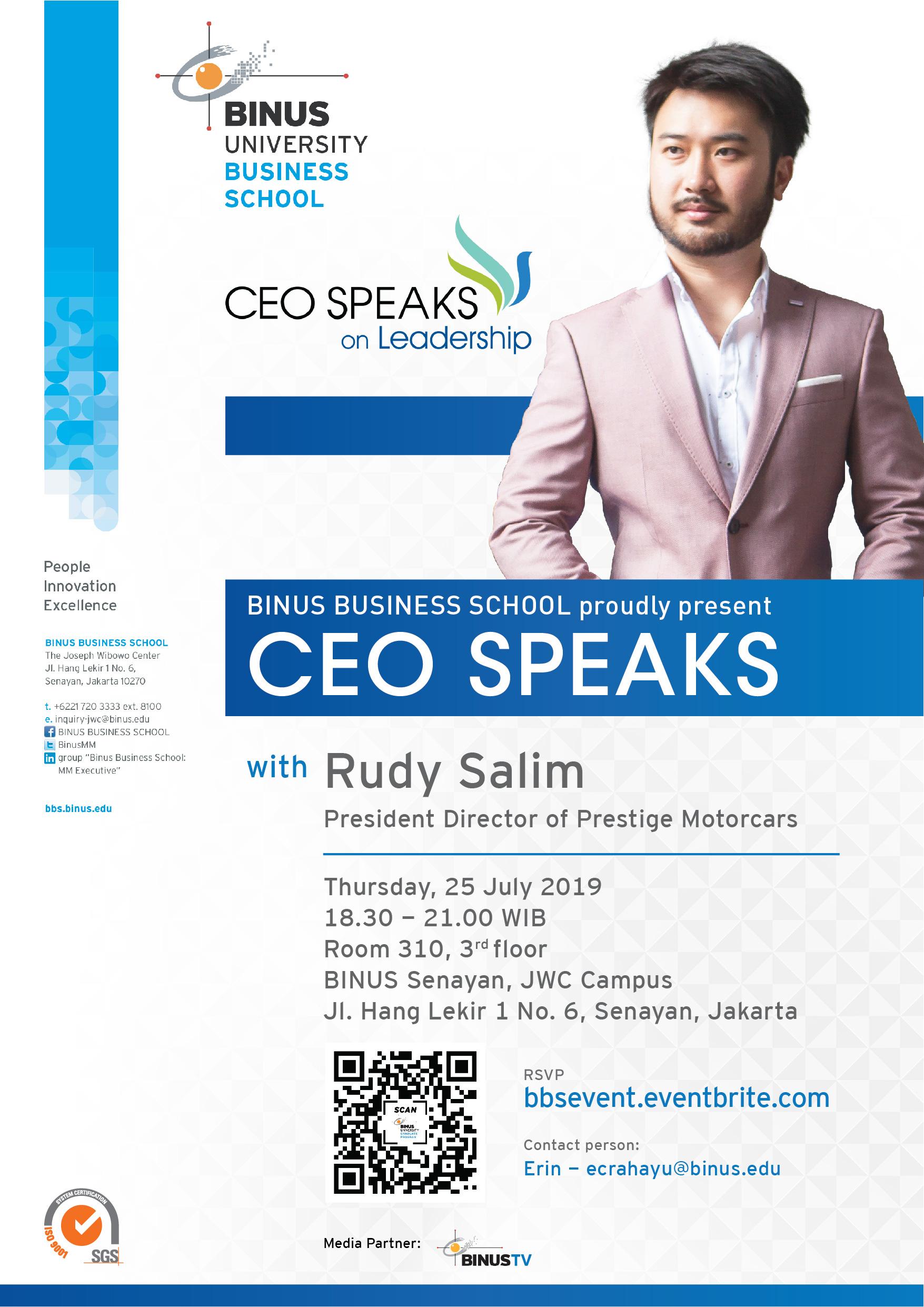 Poster CEO Speaks Rudy Salim