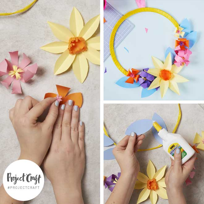 Paperchase Project Craft - Paper Flowers – Wreath