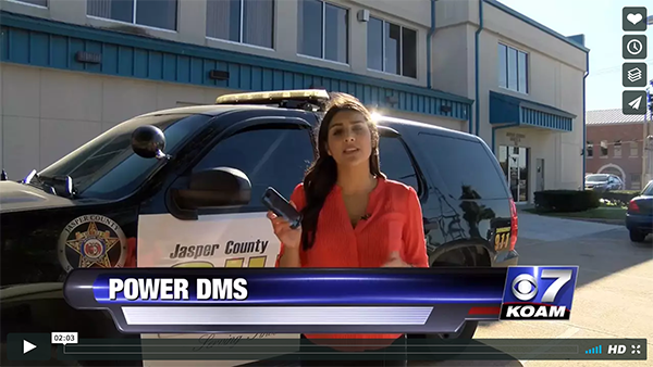 Joplin PD media coverage using PowerDMS to improve accountability