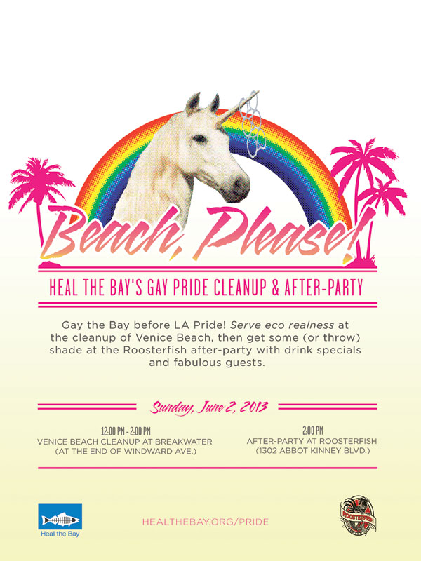 Gay LGBT Pride Los Angeles Beach Cleanup After-Party Lesbian Bisexual Transgendered