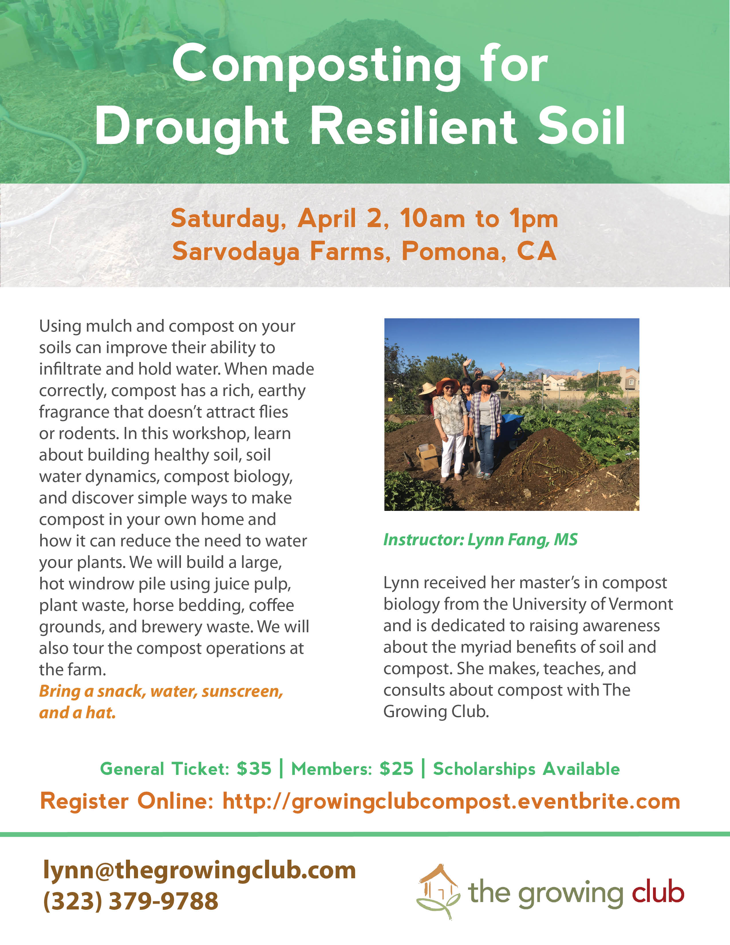 Composting for Drought Resilient Soil