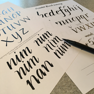 Brush Lettering 101 Ages 16 Through Adult Tickets Mon