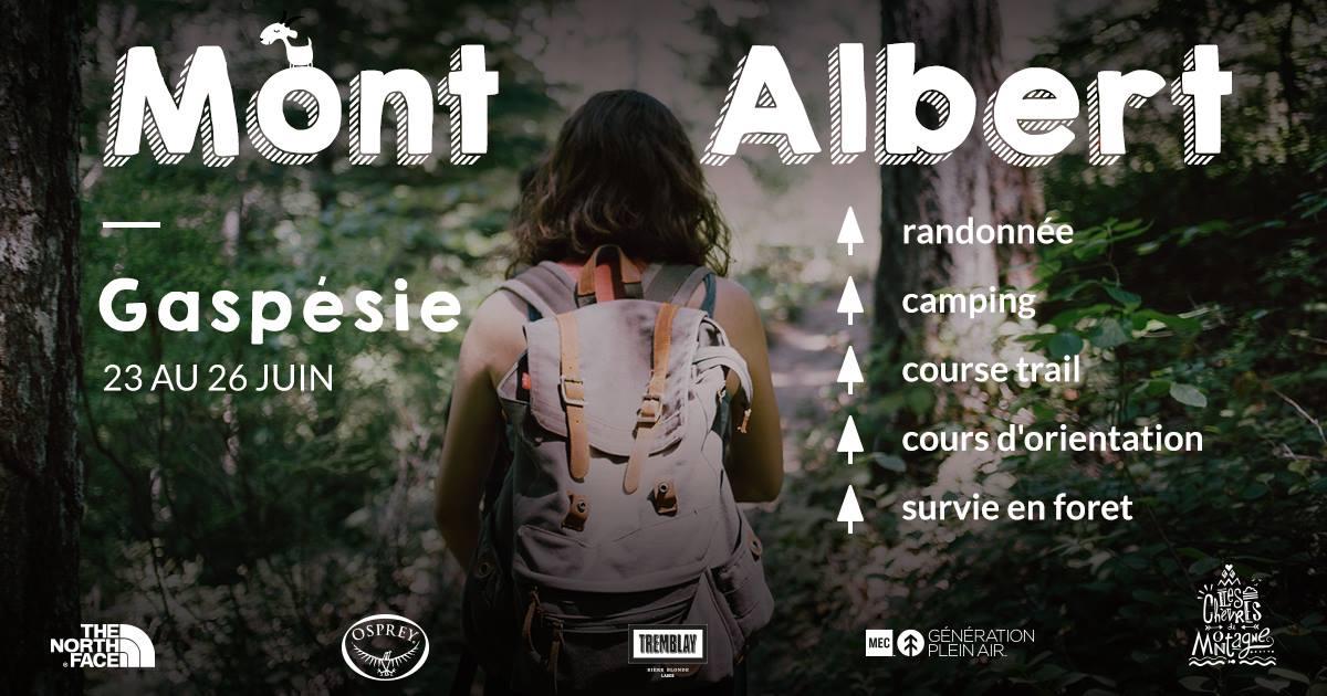 randonnée pedestre pour filles en Gaspésie, chicchocs