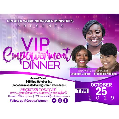 VIP Empowerment Dinner Flyer