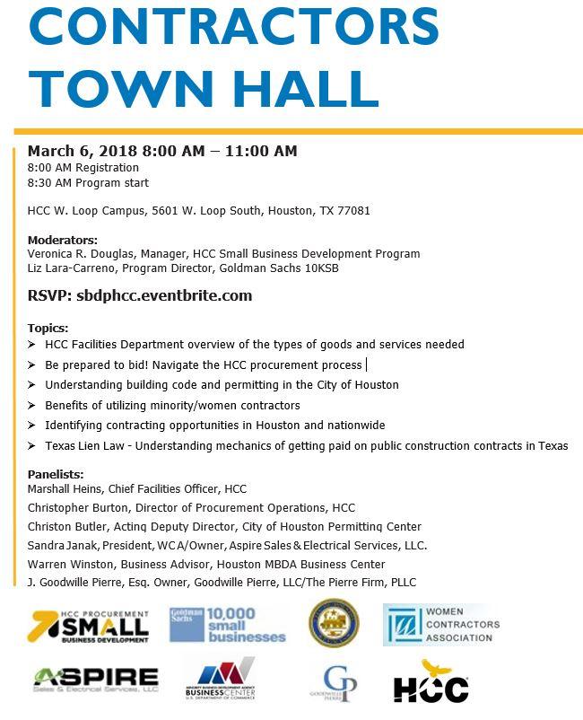 Contractors Town Hall Flier