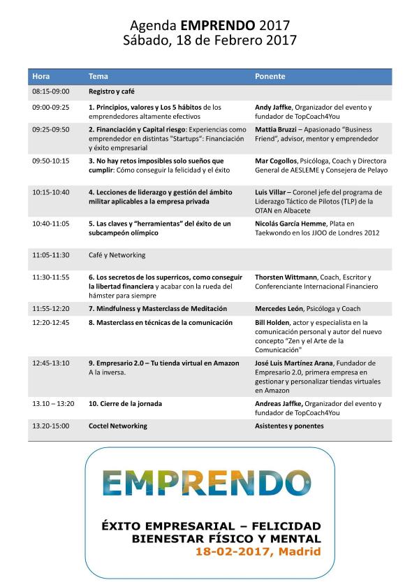 Programa EMPRENDO 2017