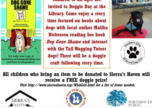 Doggie Day at the Library Poster