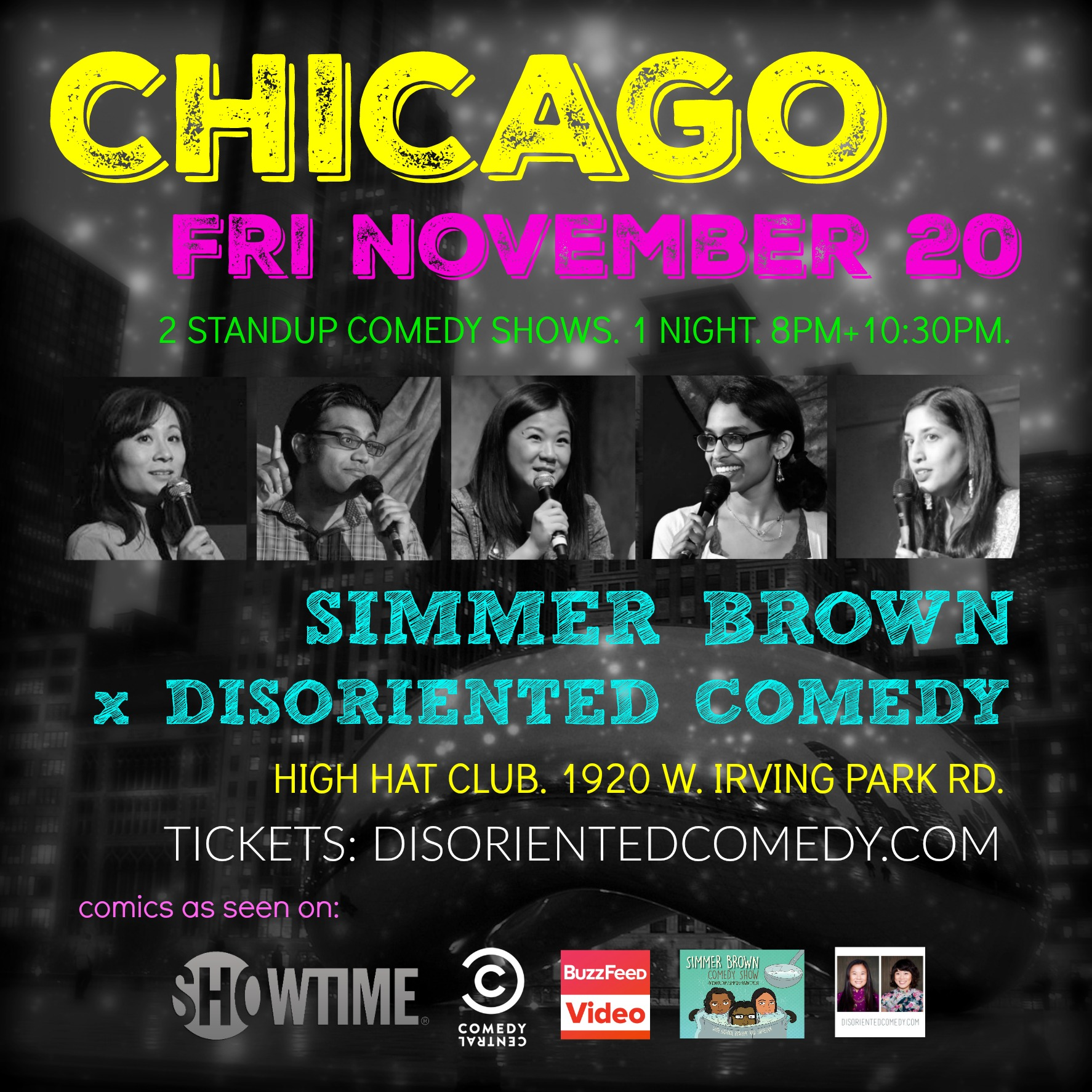Simmer Brown x Disoriented Comedy Standup Show Flyer