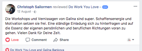 Teilnehmerstimme Wo Work You Love Workshop