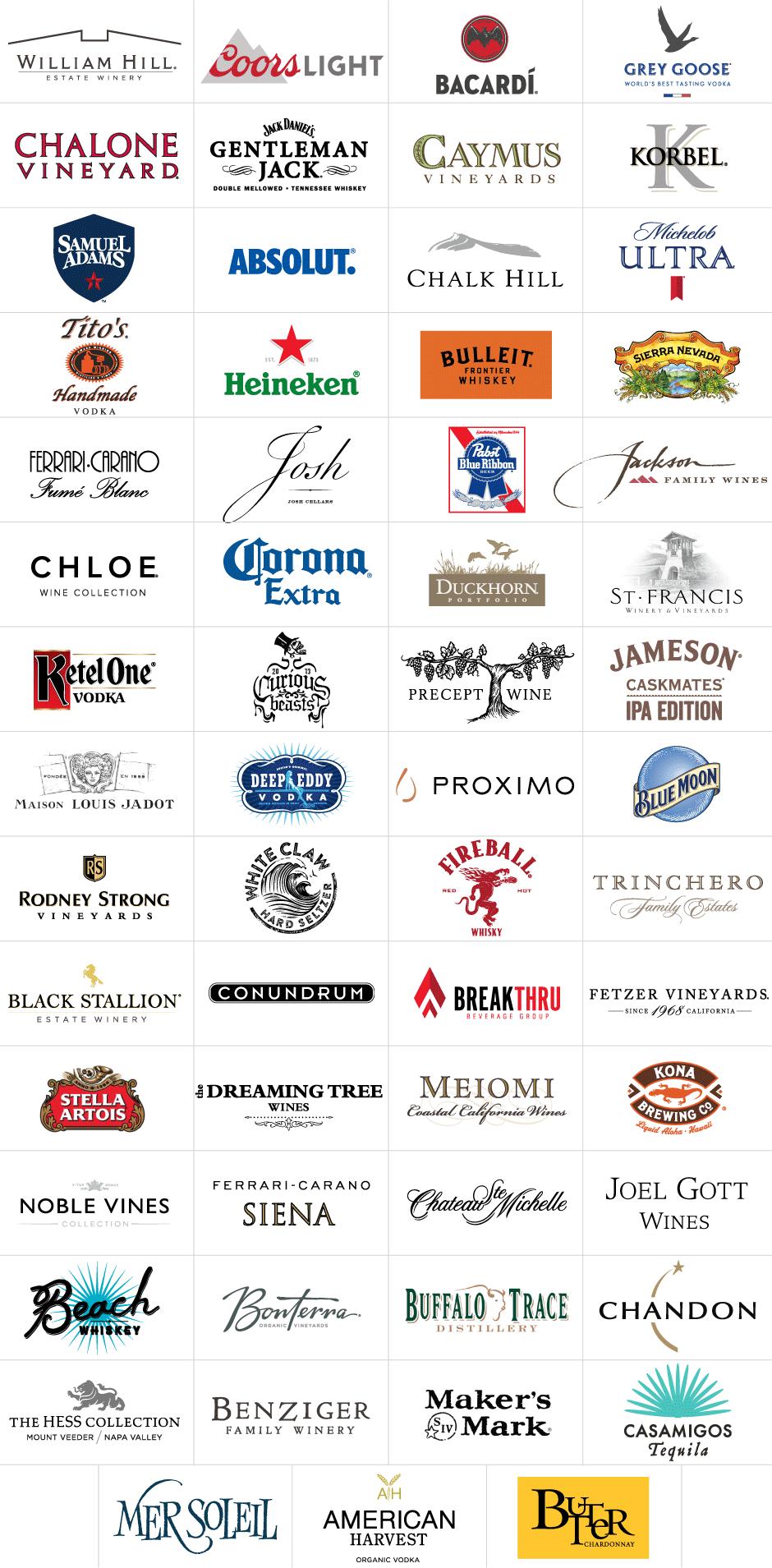 Safeway Open Beverage Sponsors