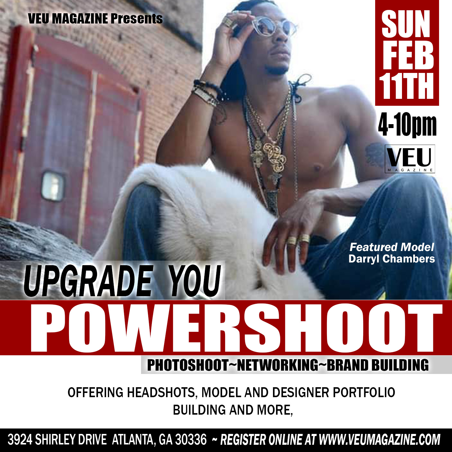 VEU Magazine Upgrade You Powershoot Flyer