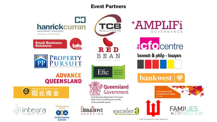 Event Sponsors as at 12 May