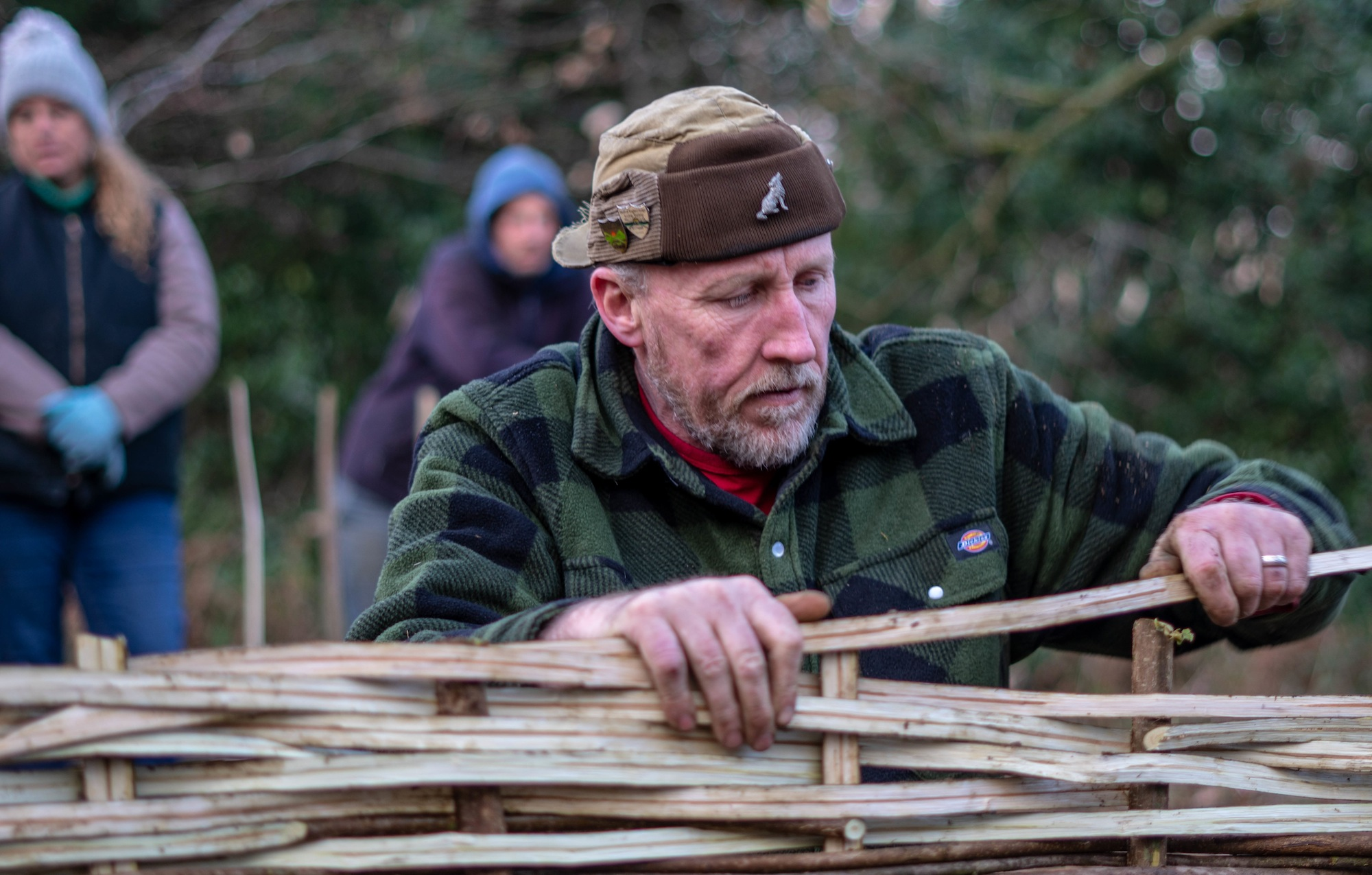 Wattle Hurdle Making by Paul Matthews