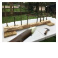 Weaving rods for a Wattle Hurdle