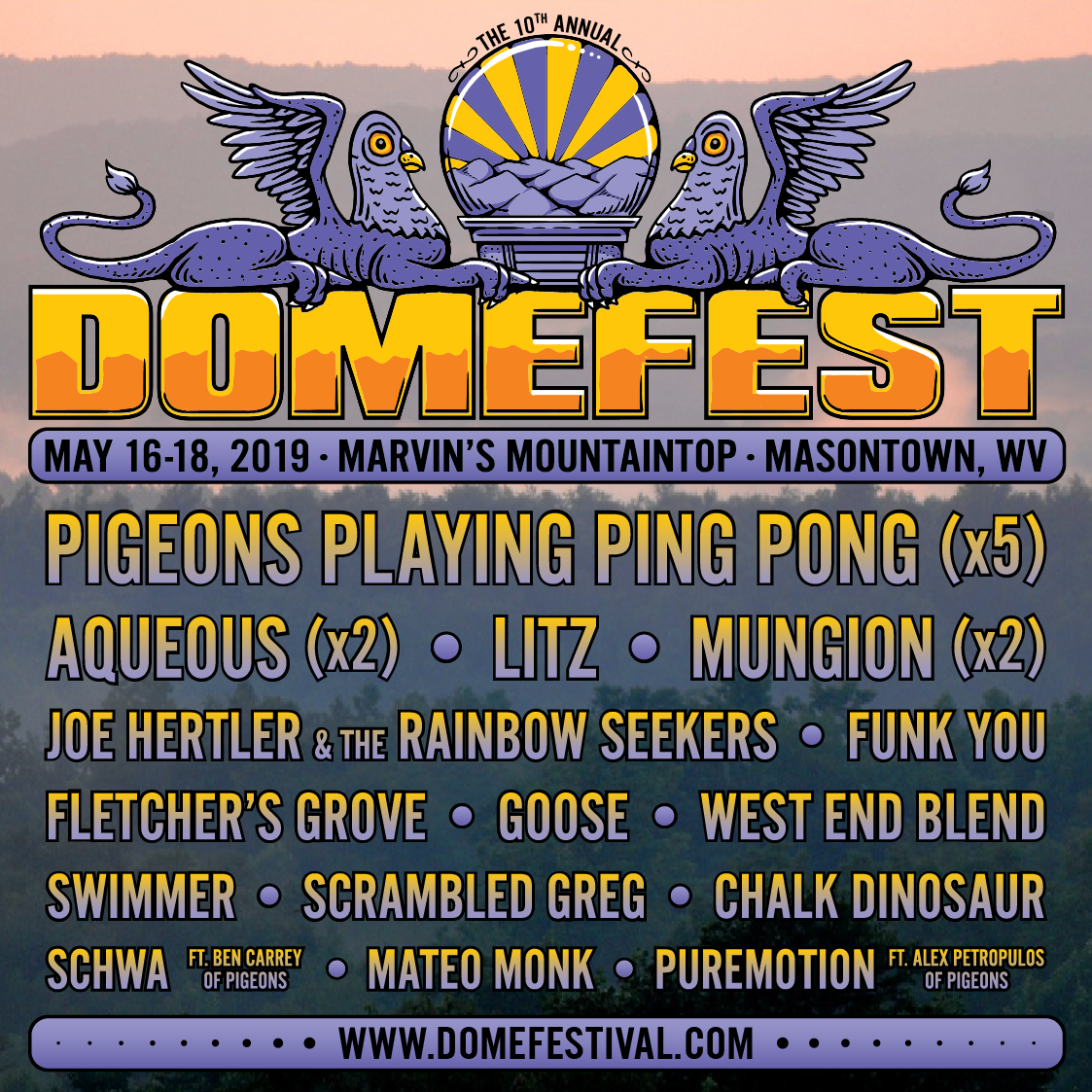 Domefest 2019 Initial Lineup