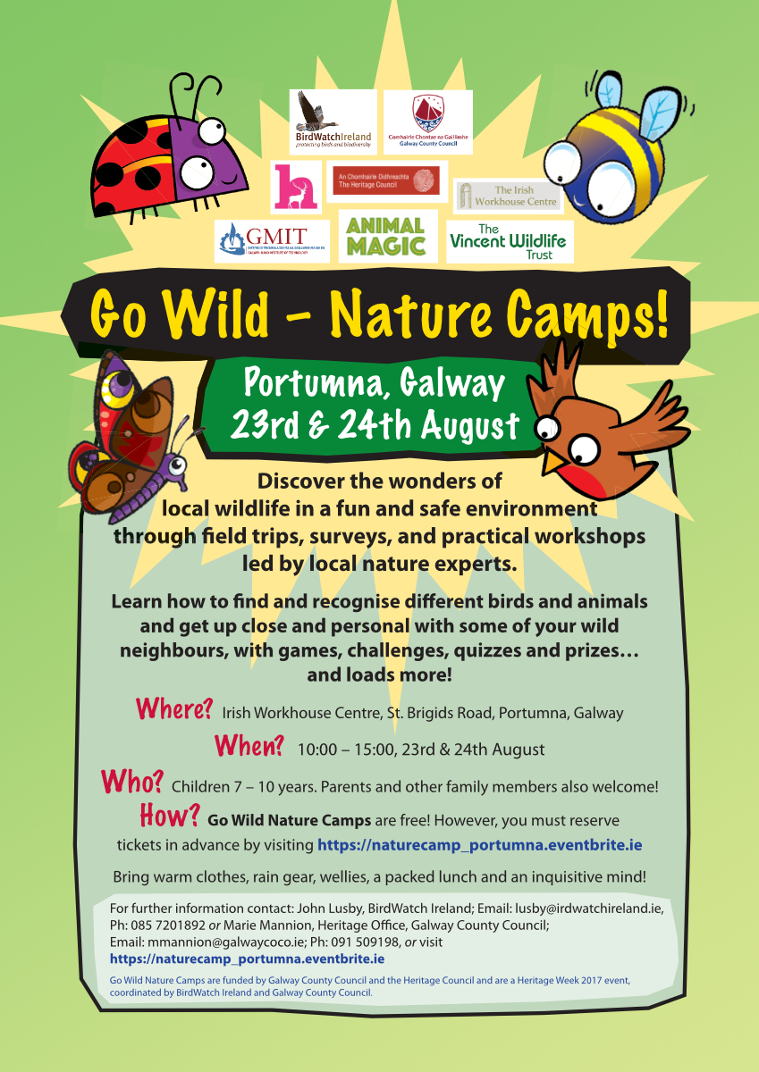 Poster_Go Wild Nature Camp_Portumna