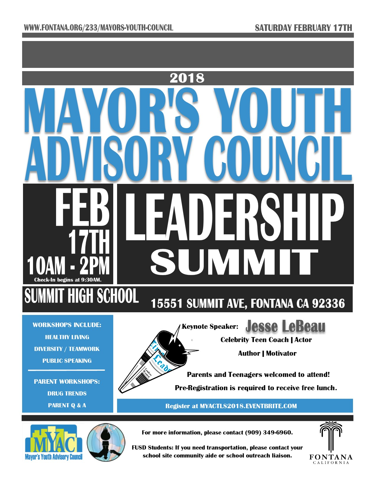 Teen Summit Flyer