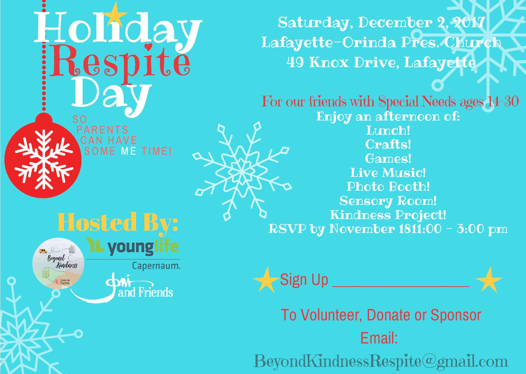 Beyond Kindness Holiday Respite Day