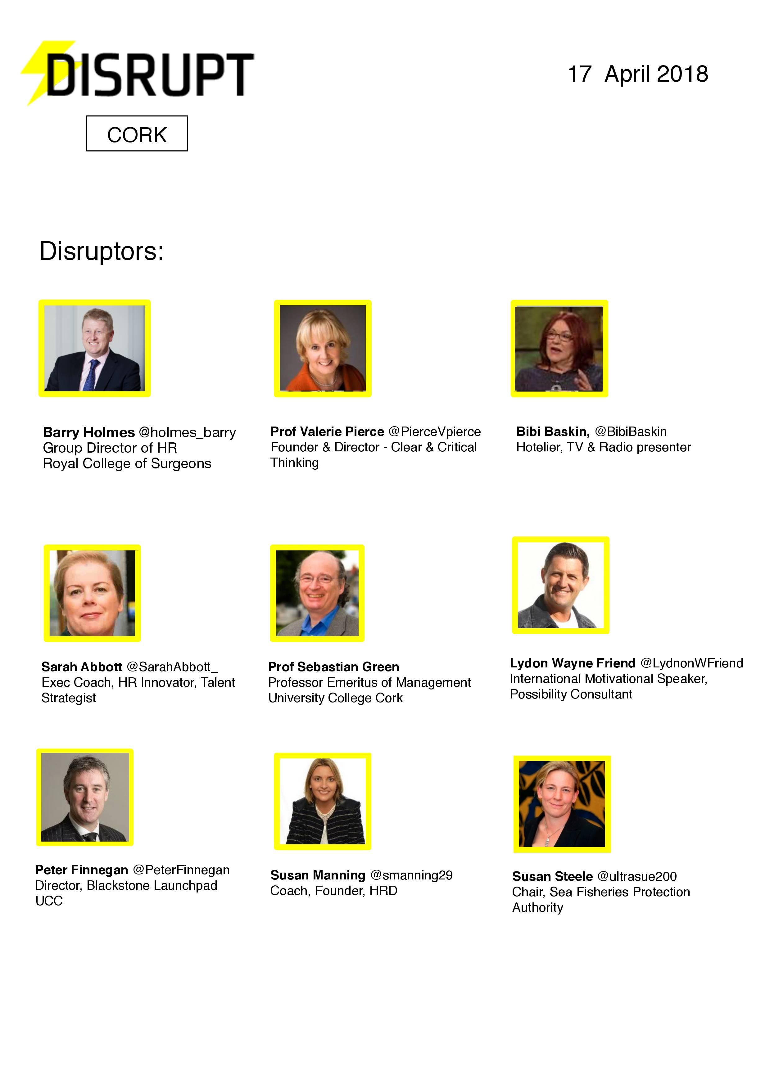 Disruptors Cork 2018