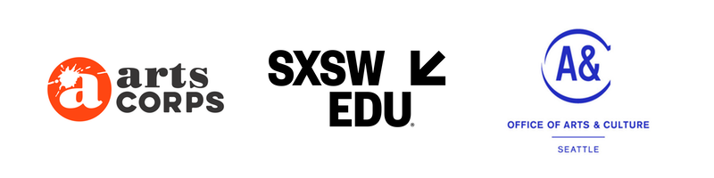 Art Corps, SXSW EDU and Office of Arts and Culture logos