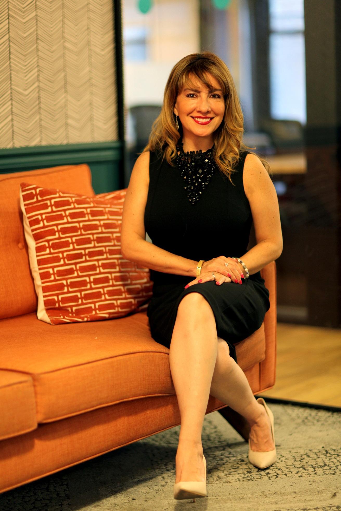 Alejandra in her office