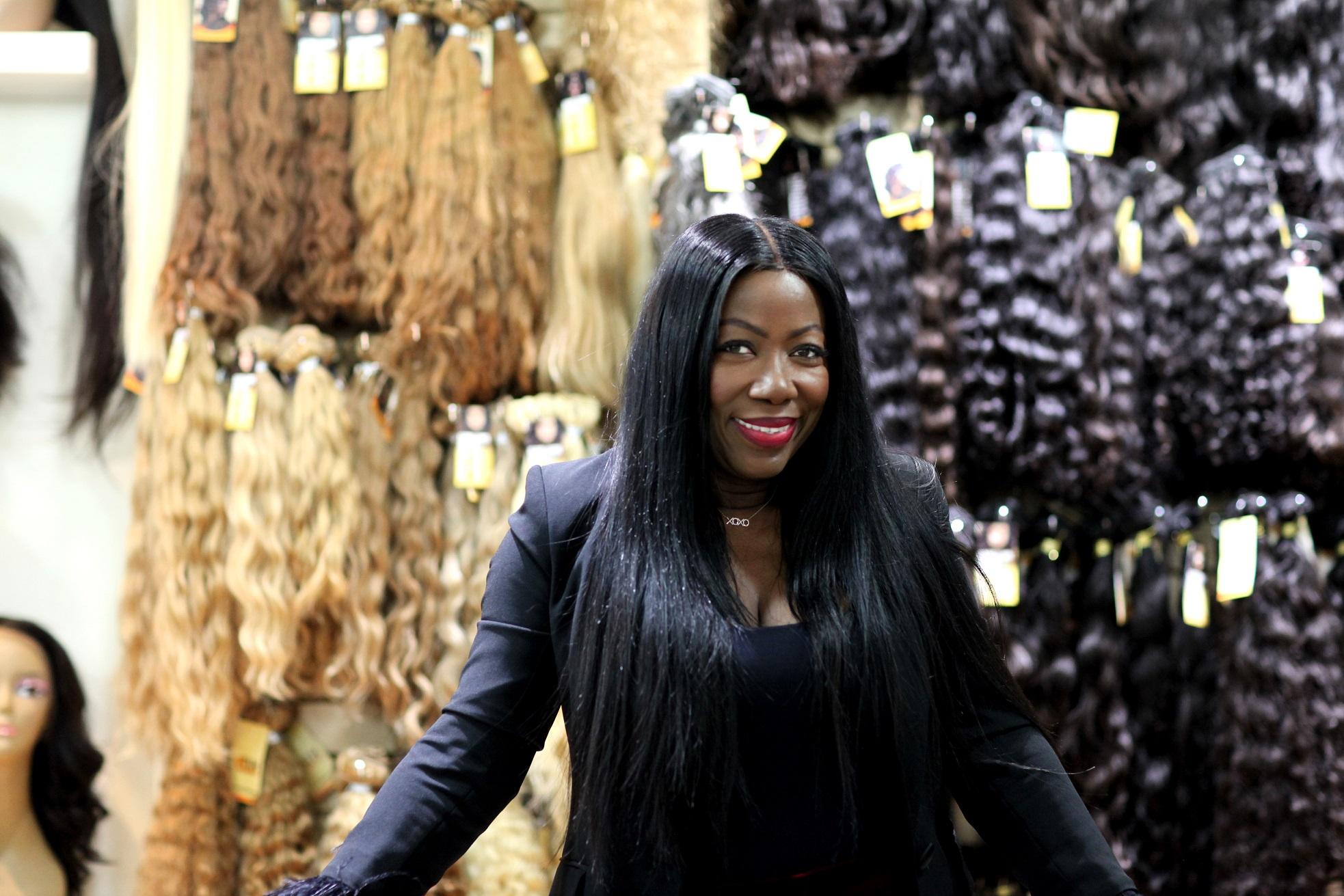 Karen Mitchell in her store True Indian Hair