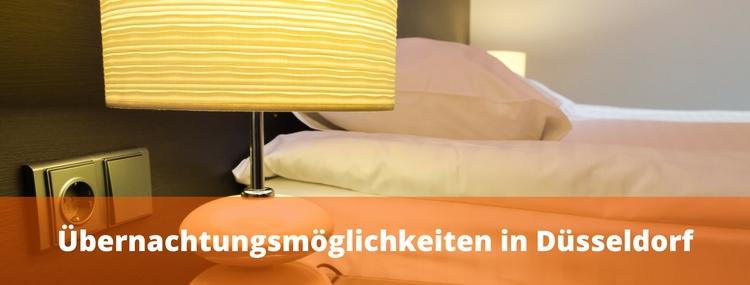 Übernachtungsmöglichkeiten in Düsseldorf