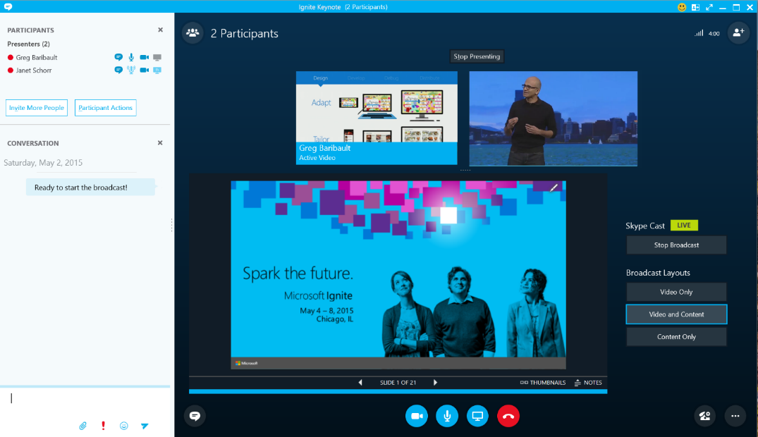 Skype for Business Meeting Broadcast
