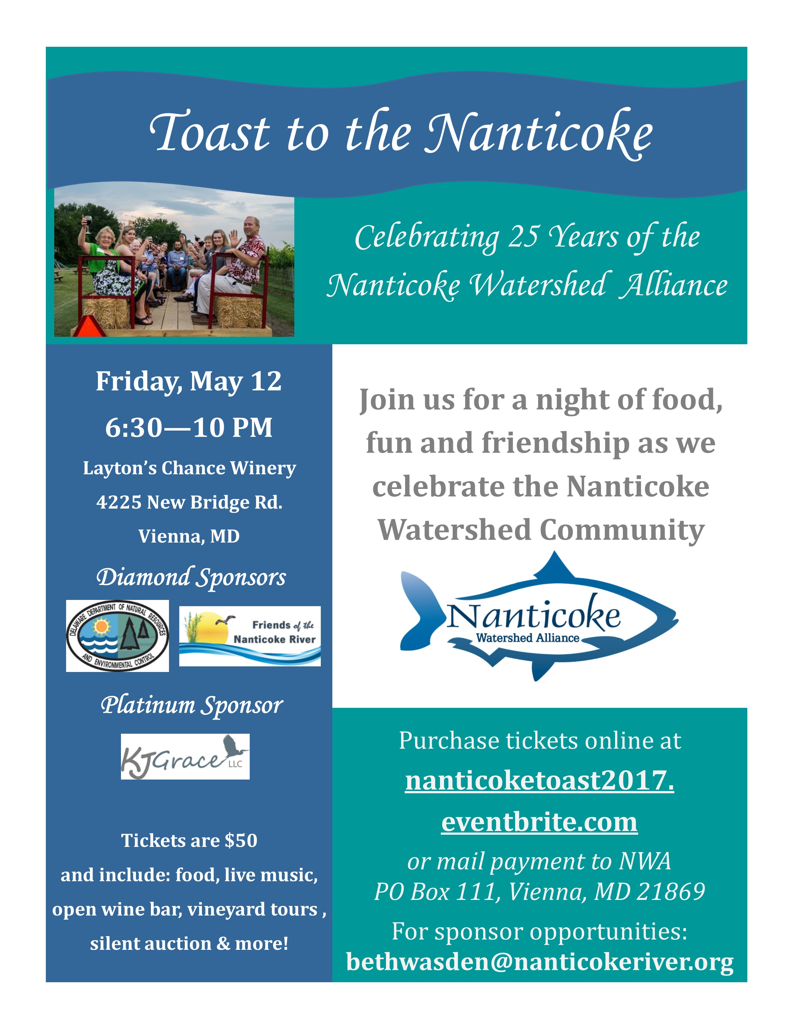 Toast to the Nanticoke Flyer with Sponsors