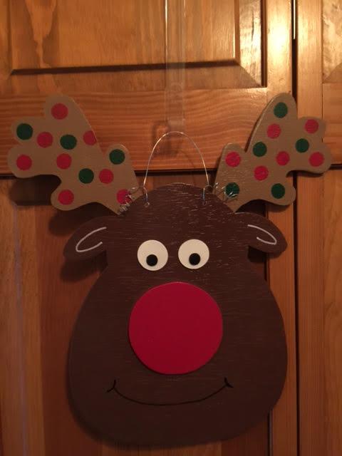Reindeer Door Hanger