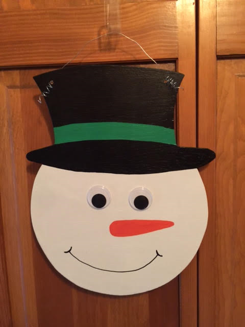 Snowman Door Hanger