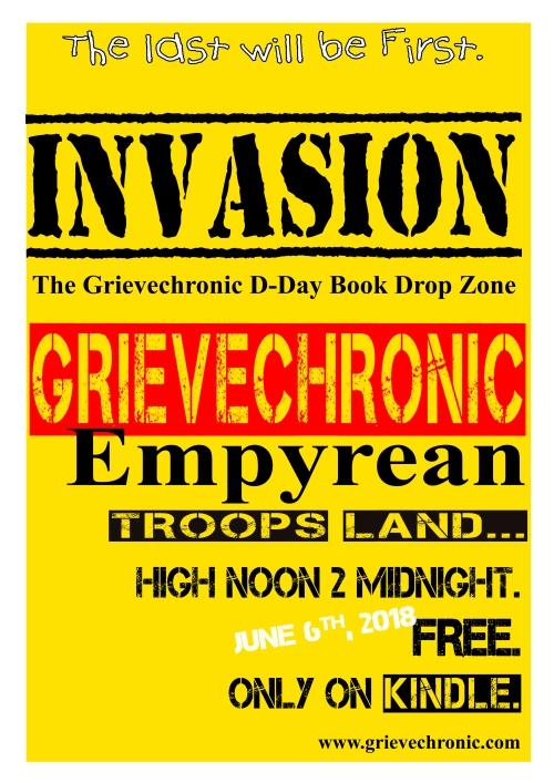 flyer for DDay grievechronic book drop 6618