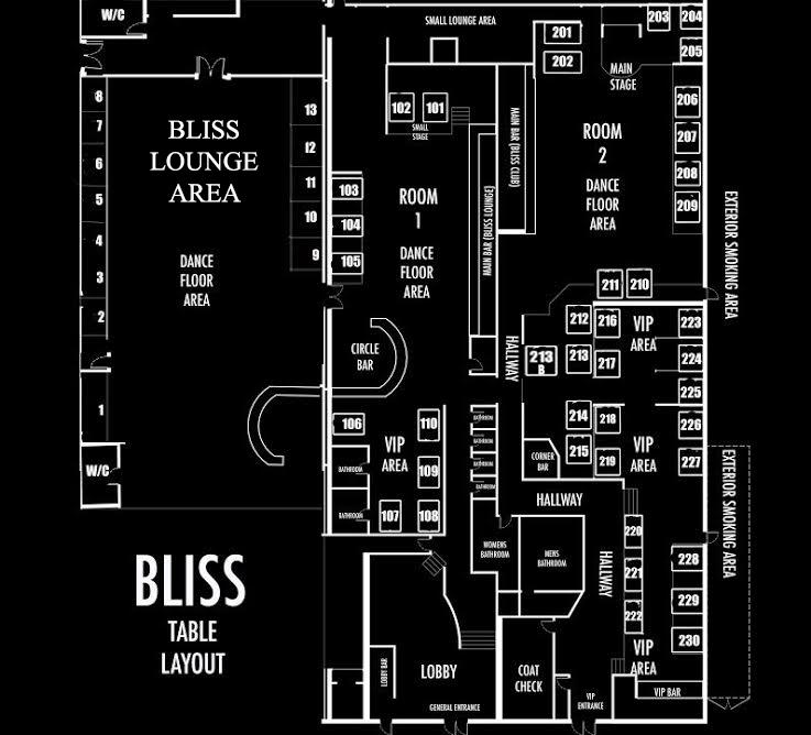 Bliss Table Floor Plan