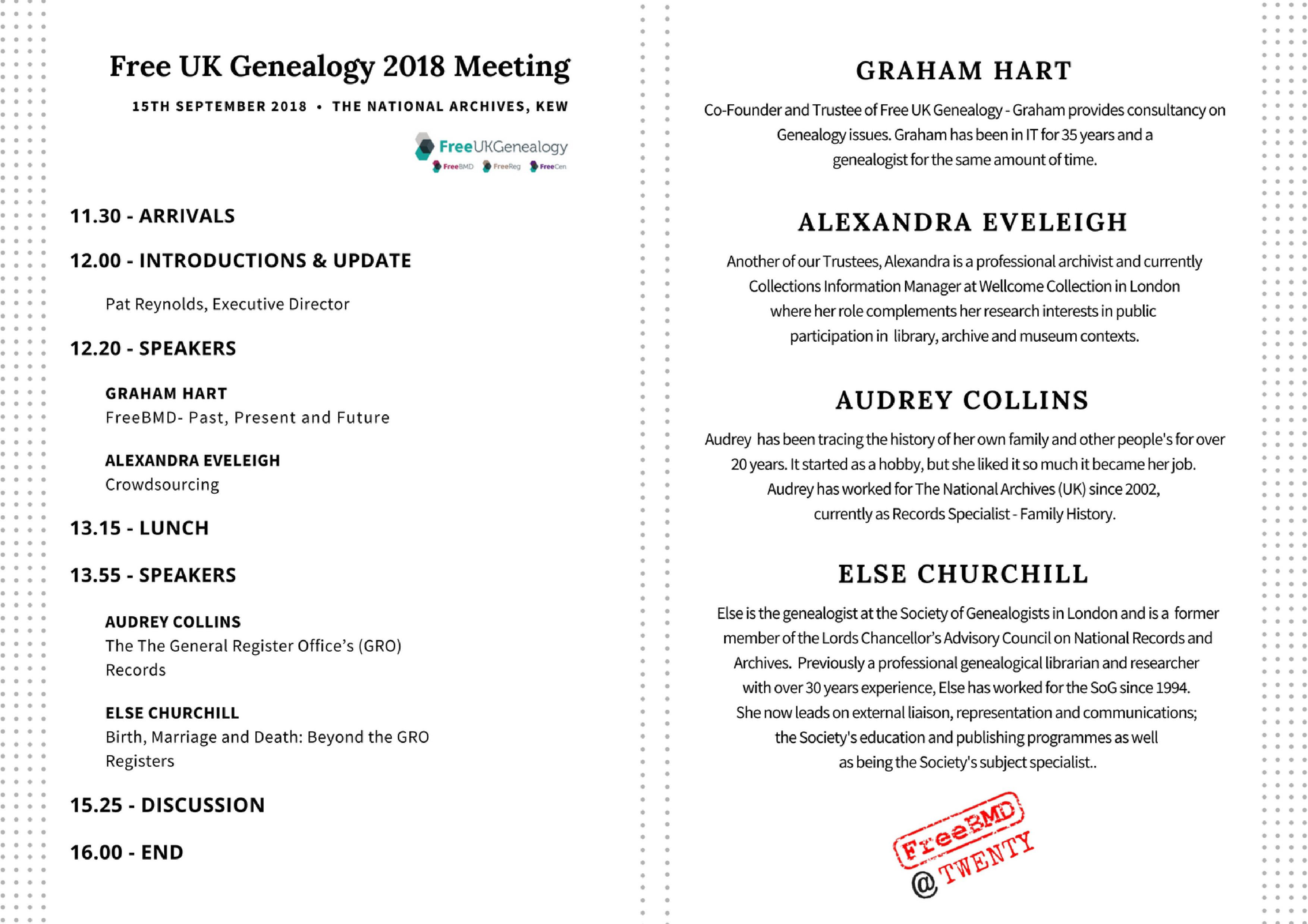 Program and speakers