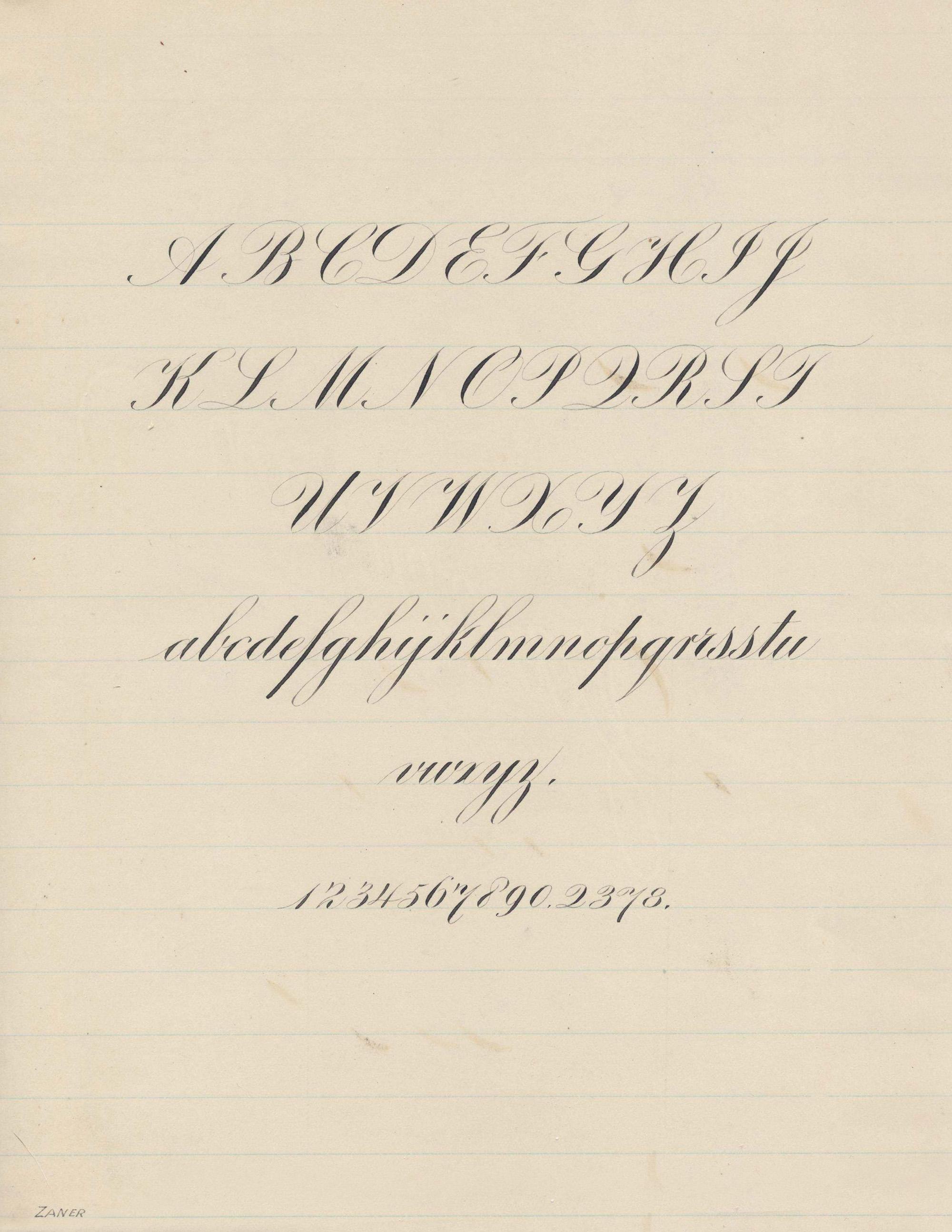 Engrosser's Script Calligraphy Sample