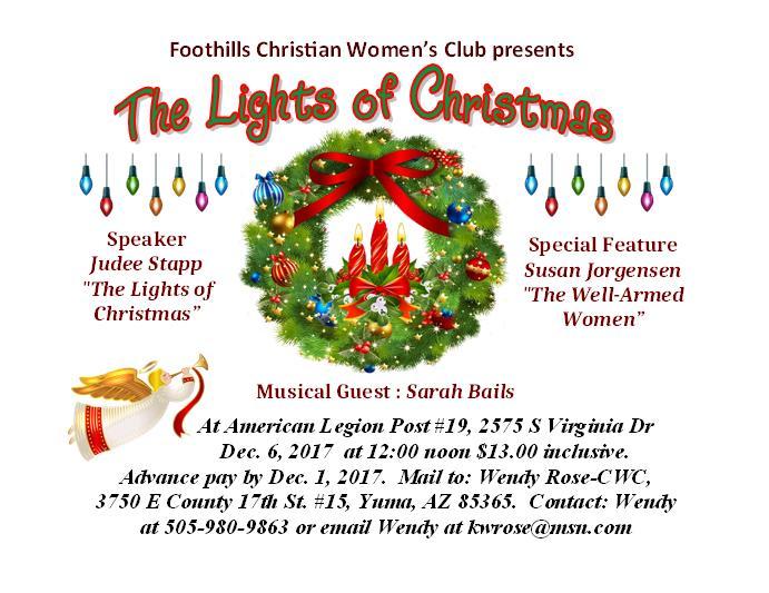 The Lights of Christmas invitation card