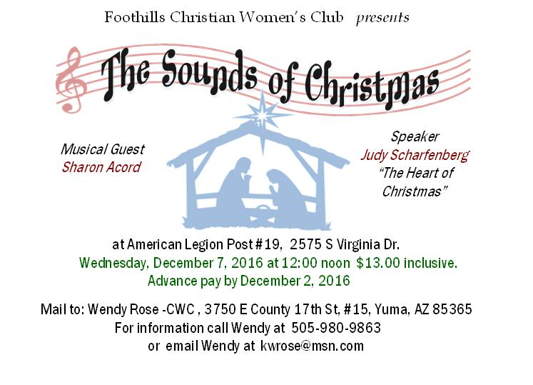 The Sounds of Christmas invitation card