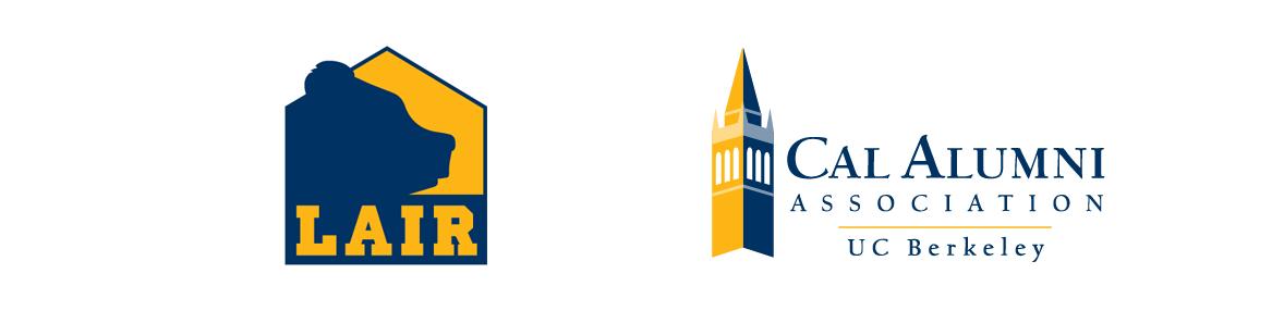 Lair of the Bear and Cal Alumni Association logo
