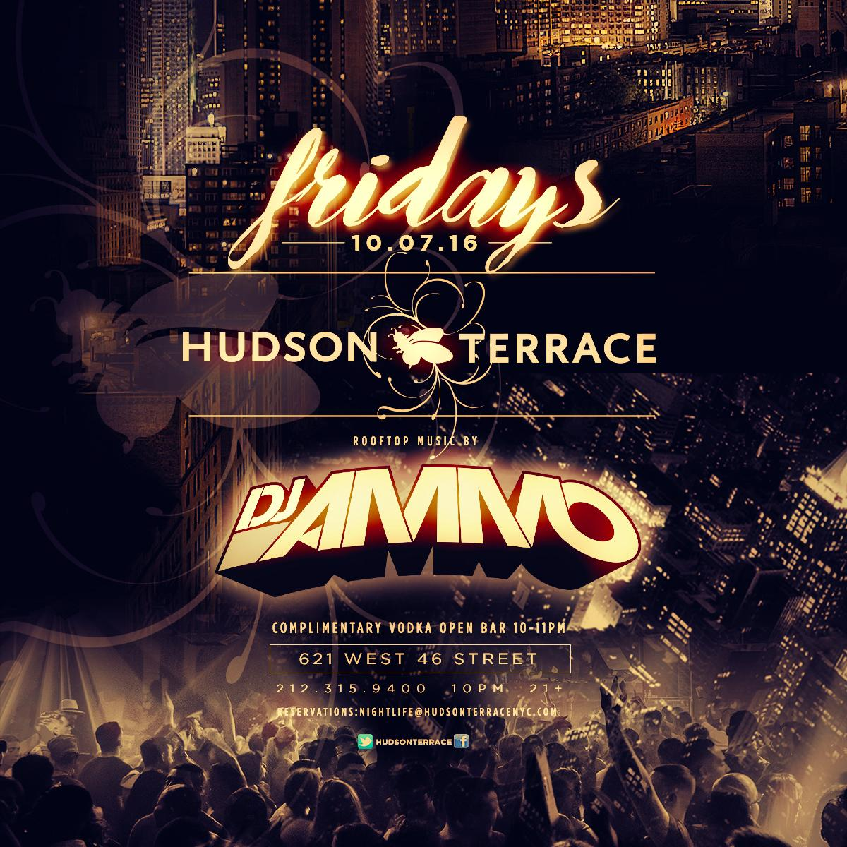 Fridays at hudson terrace nyc for Terrace on the hudson