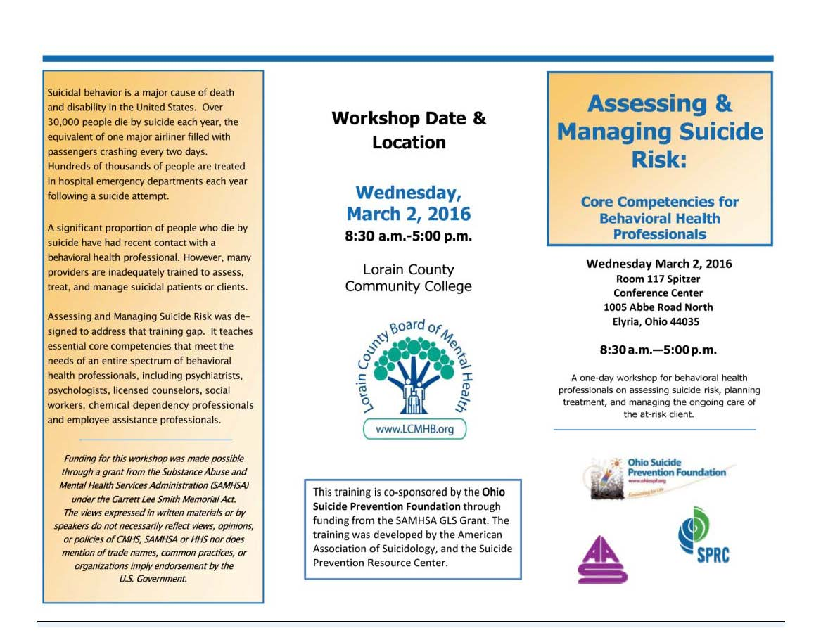 Assessing Managing Suicide Risk Core Competencies For Mental